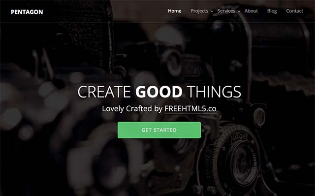 Pentagon: Free HTML5 Bootstrap Template, a Multi-Purpose Template - Free Responsive HTML5 Template