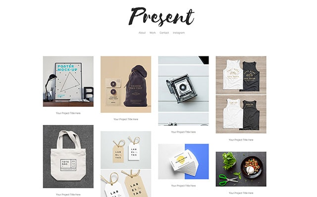 Present: Free Website Template Using Bootstrap for Portfolio - Free Responsive HTML5 Template
