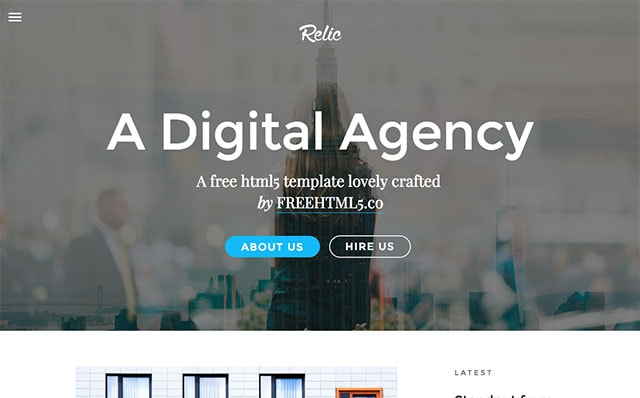 Relic: Free HTML5 Template using Bootstrap - Free Responsive HTML5 Template
