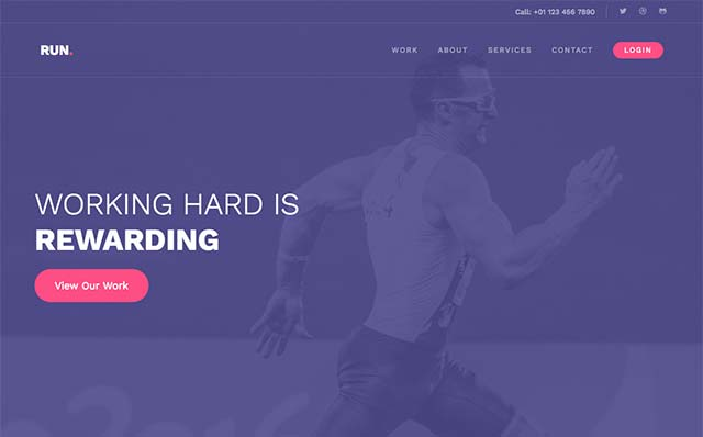 Run: Free Website Template Using Bootstrap for Portfolio Websites - Free Responsive HTML5 Template