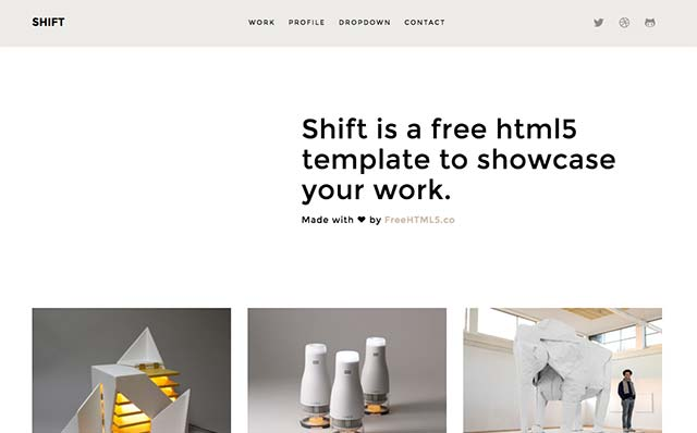 Shift: Free HTML5 Bootstrap Template for Portfolio - Free Responsive HTML5 Template