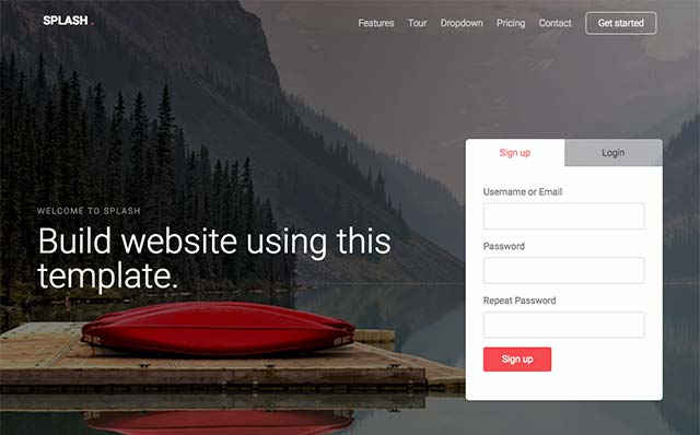 Splash: Free HTML5 Bootstrap Template for Any Websites - Free Responsive HTML5 Template