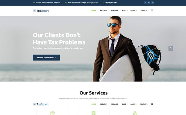 TaxExpert Website Template