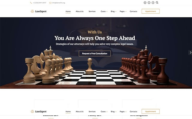 LawExpert Website Template