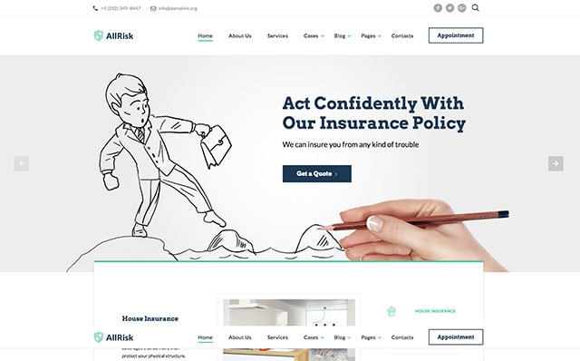 Starbis Insurance Website Template