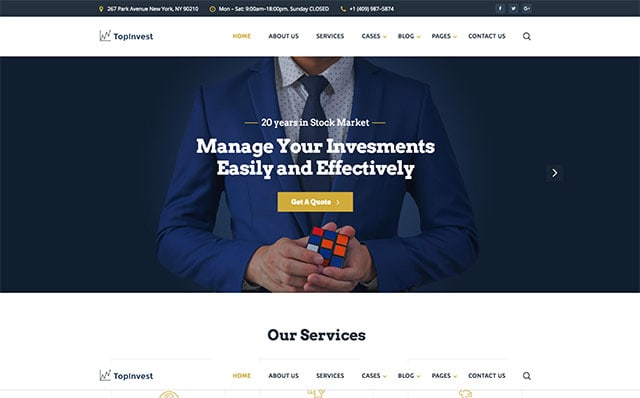 Starbis TopInvest Website Template