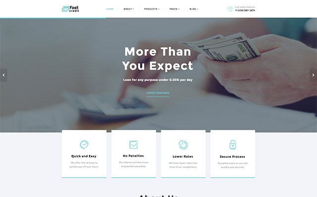 Starbis Fast Credit Website Template