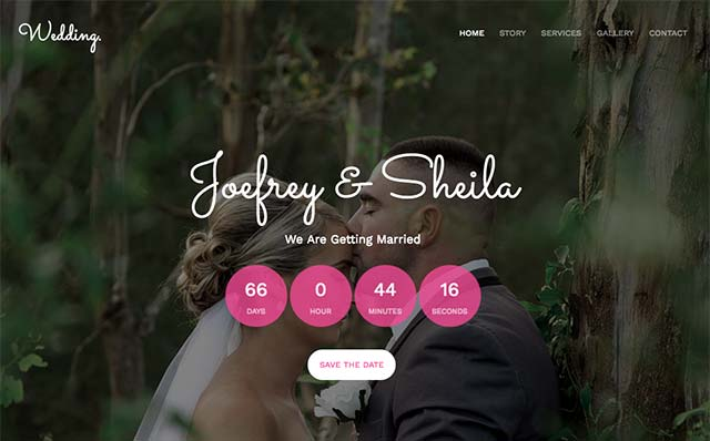 Wedding: Free HTML5 Bootstrap Template for Wedding Websites - Free Responsive HTML5 Template