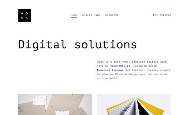 Work: Free HTML5 Template Bootstrap - Free Responsive HTML5 Template
