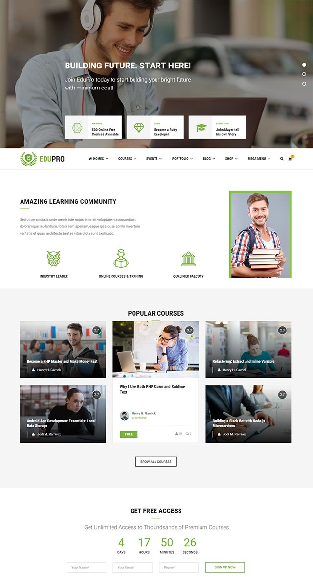 Education WordPress Theme Pro