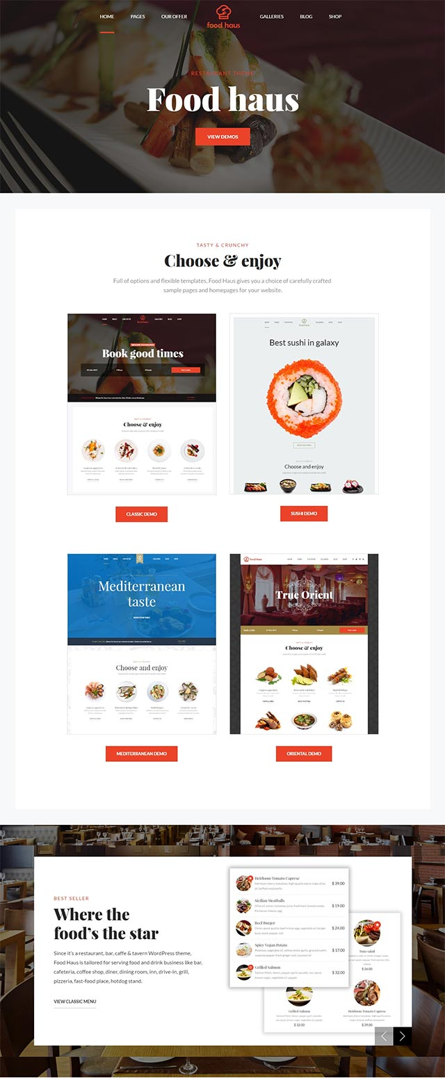 26 finest café and restaurant wordpress themes 2017 - freehtml5.co
