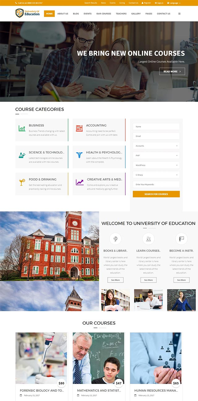 University of Education WordPress Theme