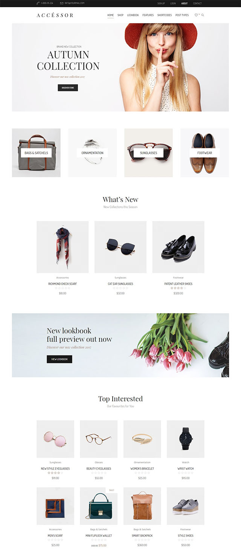 Accessories Shop - Online Store, WooCommerce & Shopping WordPress