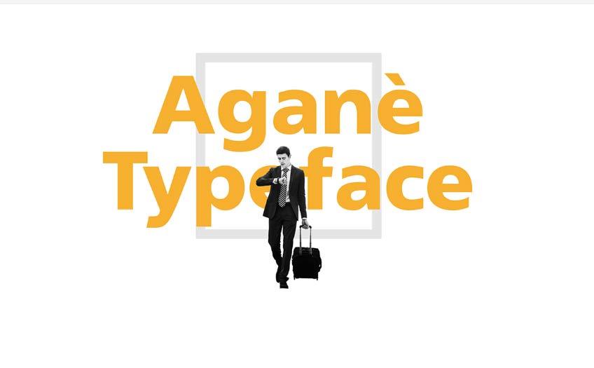 Aganè Typeface - Free font