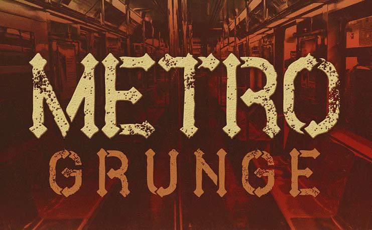 Metro Grunge Free Font