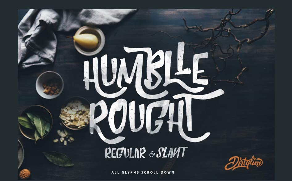 Humblle Rought Free Font