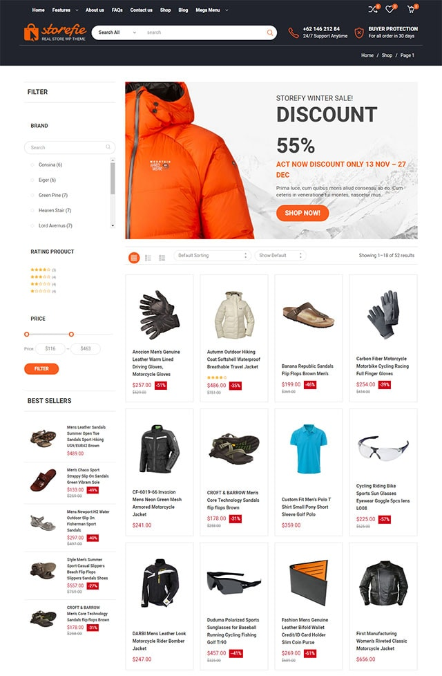 Storefie - High Conversion eCommerce WordPress Theme