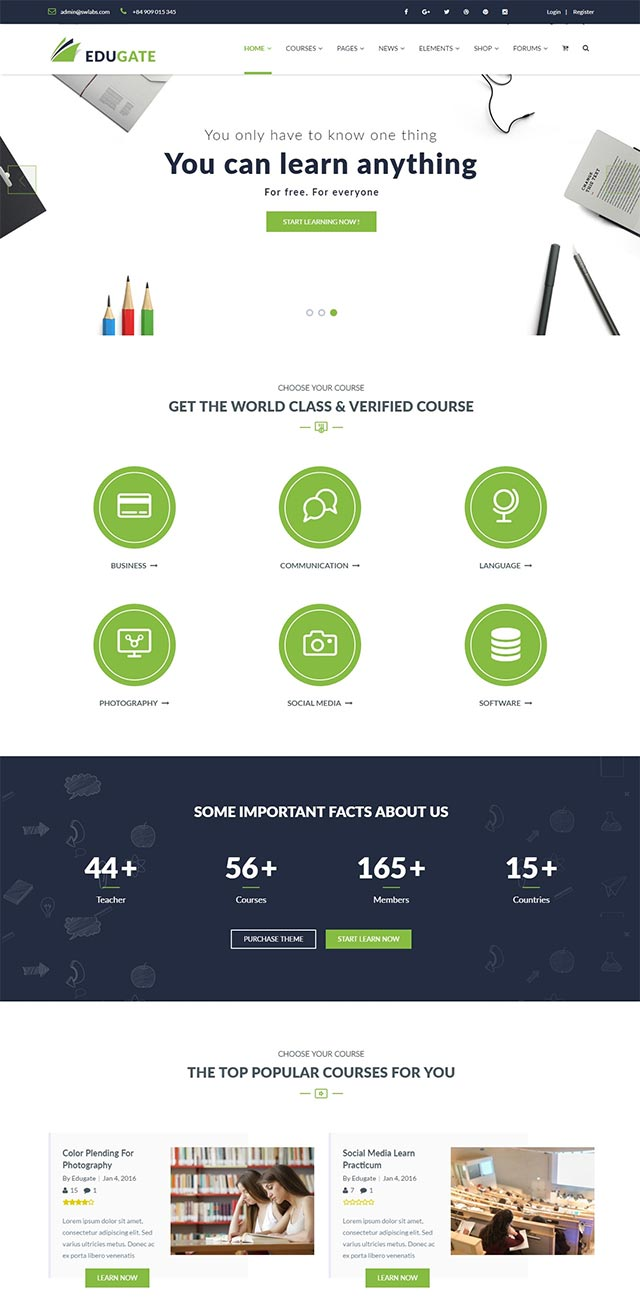Edugate Education – Education WordPress Theme