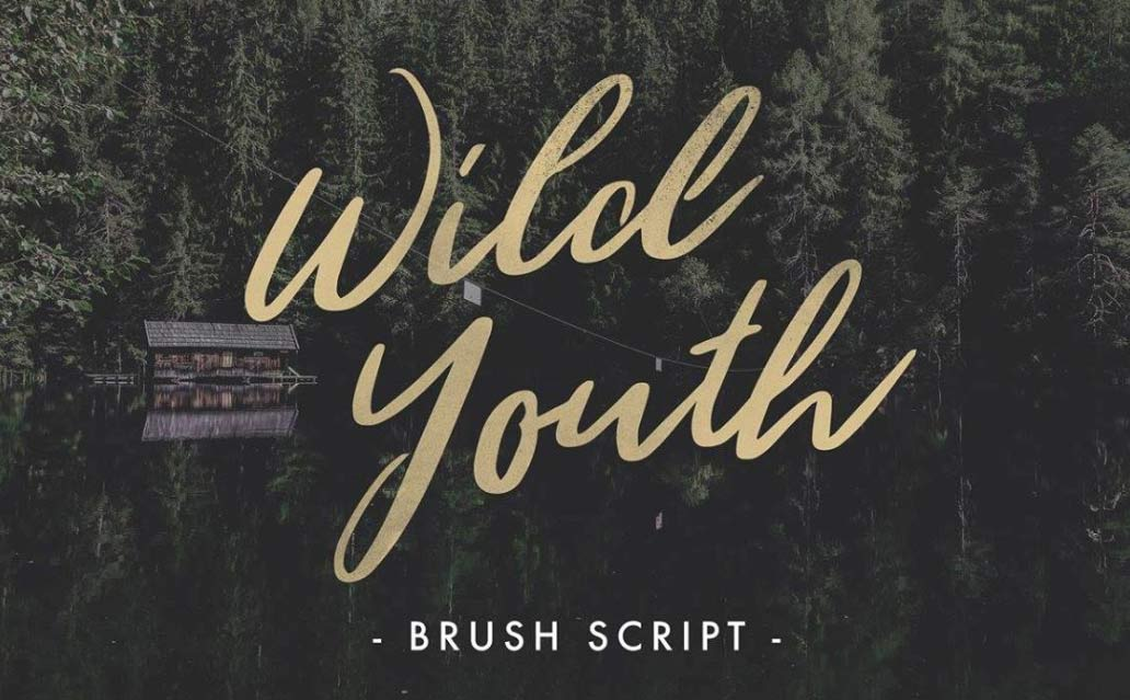 Wild Youth - Free Brush Script Font