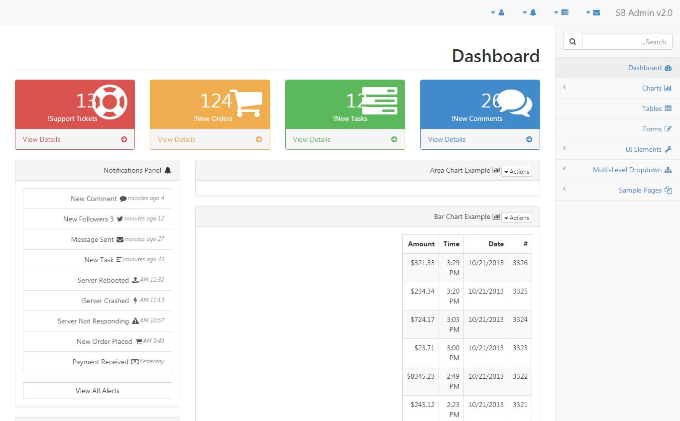 55+ Free HTML5 Responsive Admin Dashboard Templates 2019