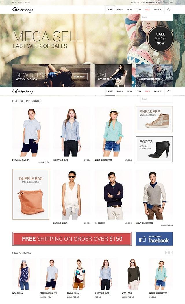 Glammy - eCommerce WordPress Theme