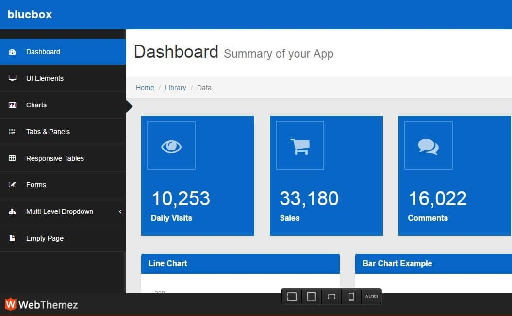 Free HTML Responsive Admin Dashboard Templates - Simple dashboard html template