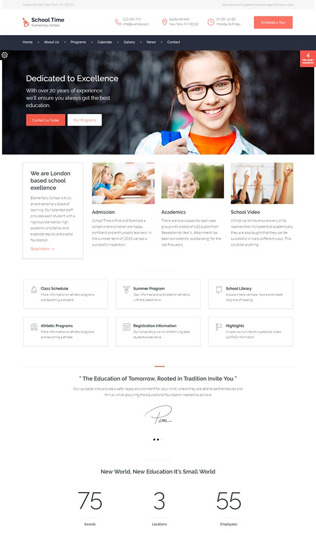 School Time – Modern Education WordPress Theme