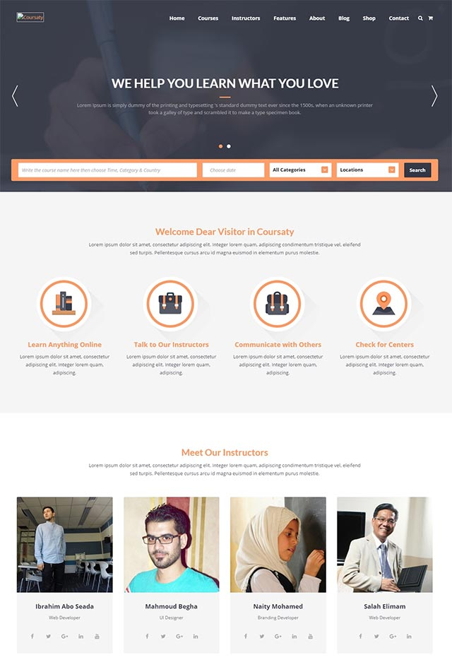 Coursaty – Courses & Education WordPress Theme