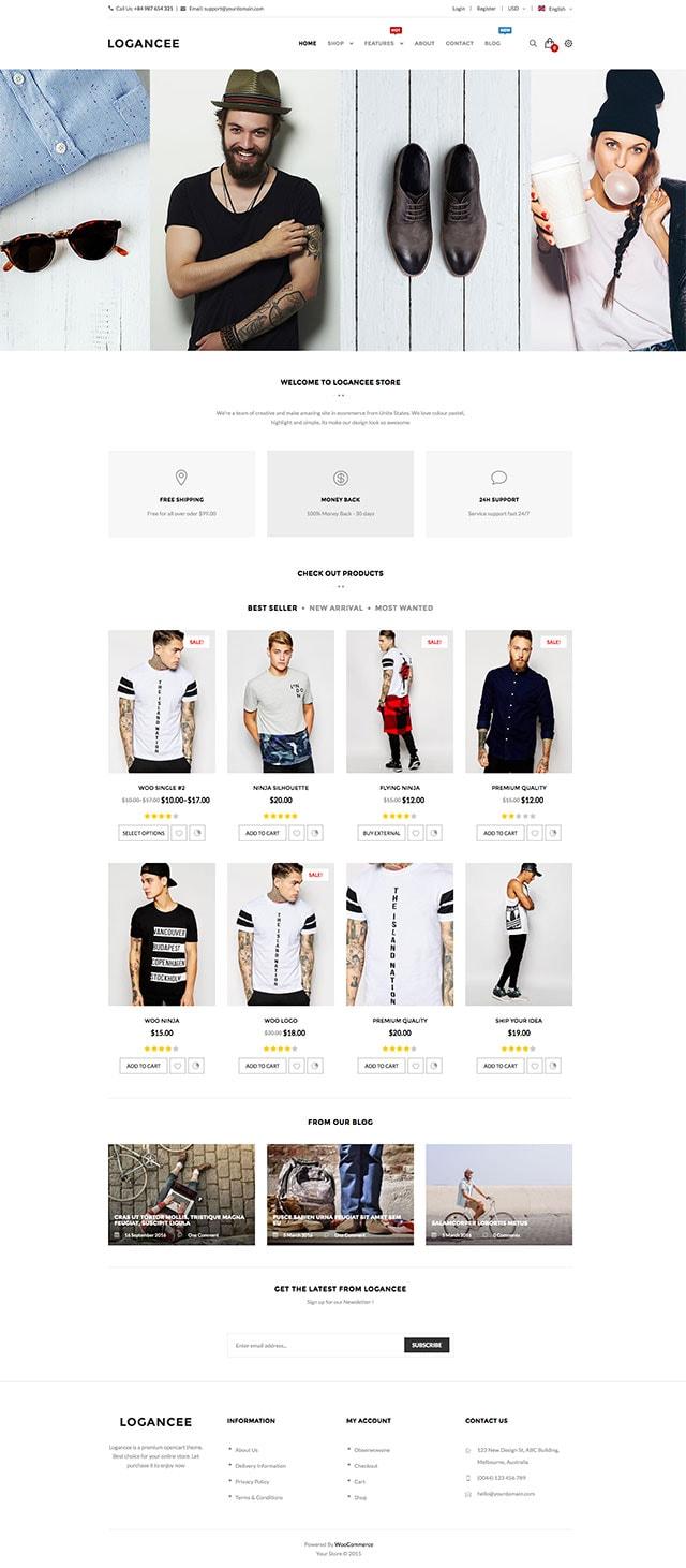 Logancee - Multipurpose eCommerce WordPress WooCommerce Theme