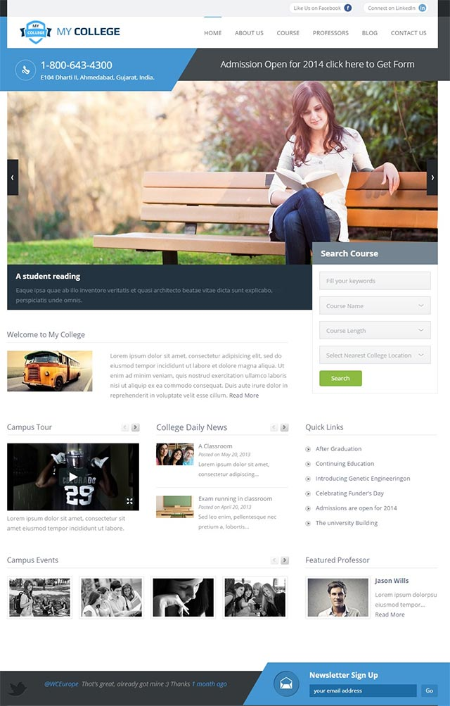 My College – Premium Education WordPress Theme