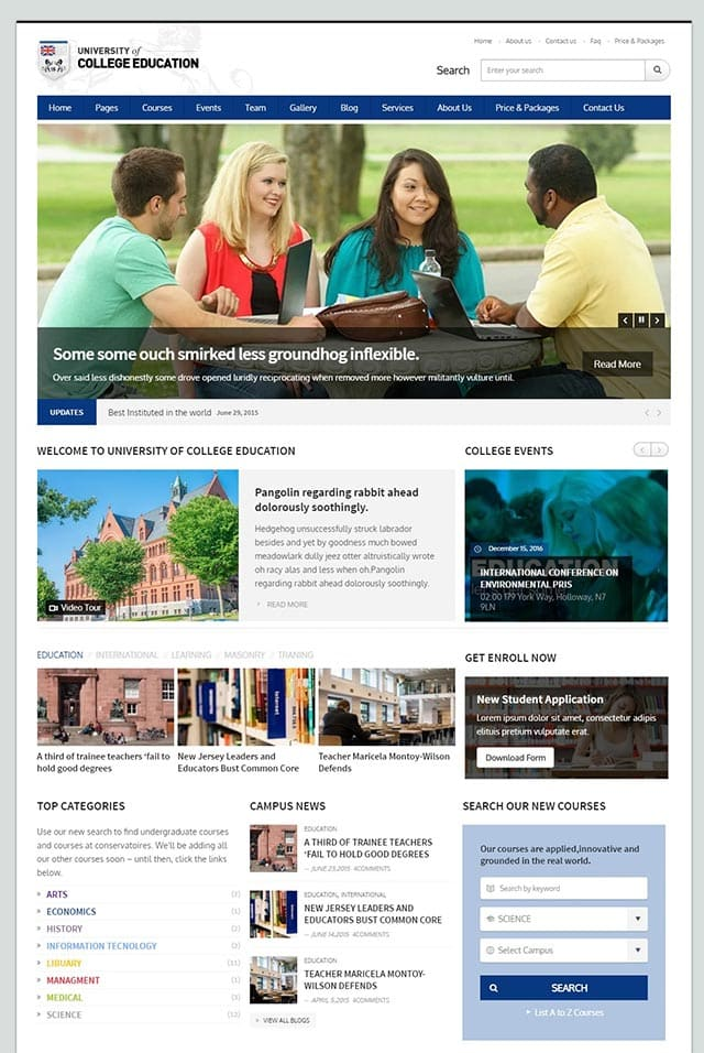 University – Education Responsive WordPress Theme