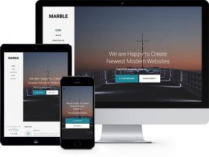 Marble: Free HTML5 Bootstrap Template for Portfolio or Multi Purpose Websites