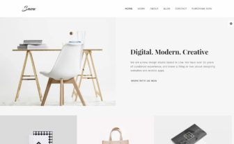 Best Minimlaist WordPress Themes 2017