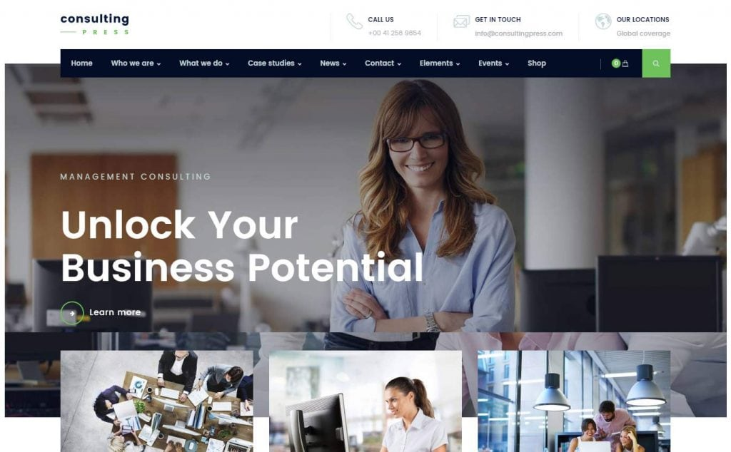 29 best new corporate business wordpress themes 2017 friedricerecipe Image collections