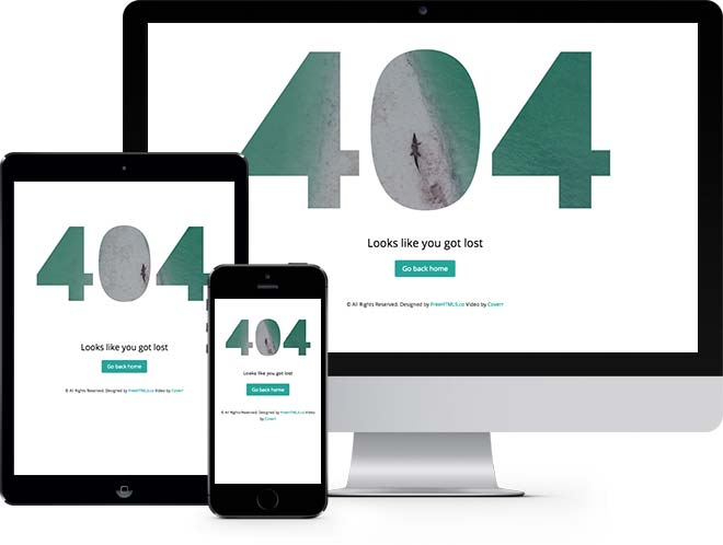 404 Page Video Background Free HTML5 Bootstrap Template