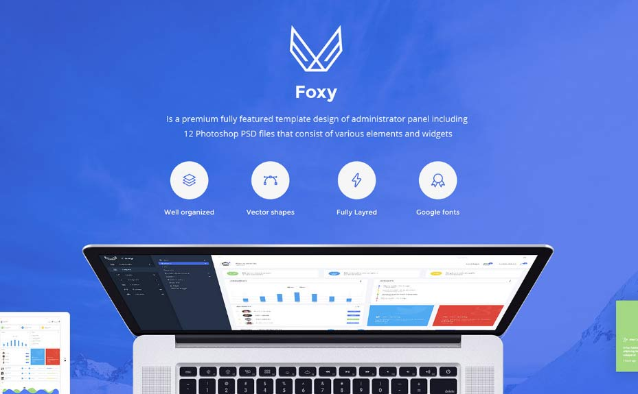 Foxy Free Admin Panel / Dashboard UI Kit