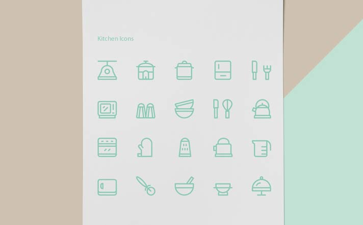 Kitchen Tools & Appliances Icons