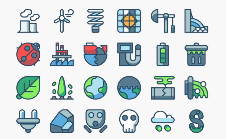 Pollution & Energy Icons