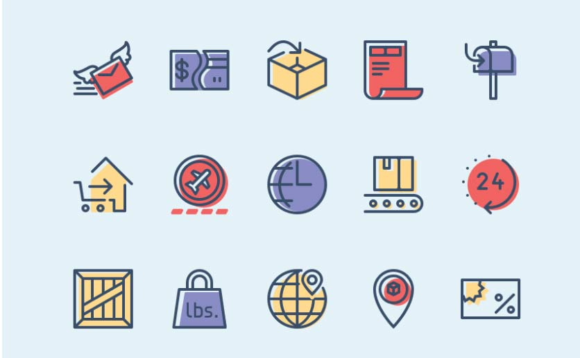 Checkout & Delivery Icons