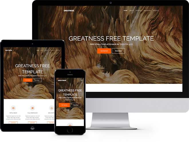Greatness is a free bootstrap template for multi purpose websites