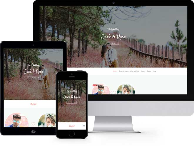 Nuptial: Free Wedding HTML5 Template Using Bootstrap