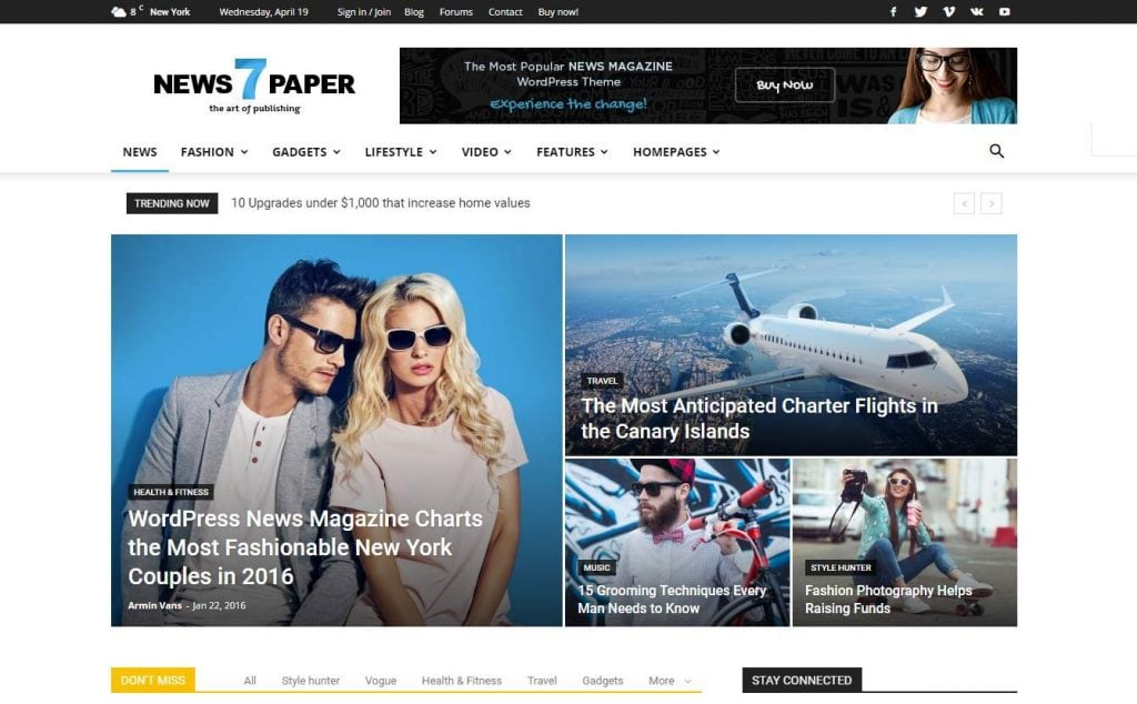 23 WordPress Blog Themes 2017