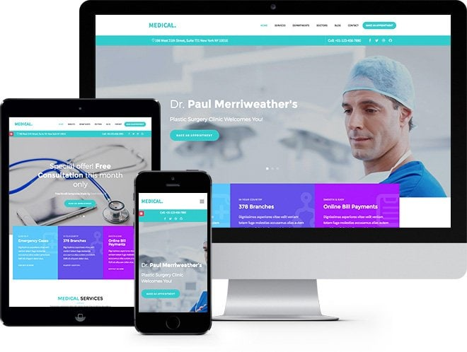 Medical Premium HTML5 Bootstrap Website Template