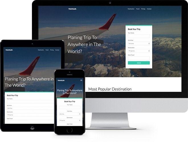 Traveler Free HTML5 Bootstrap Template