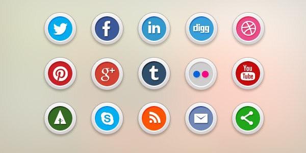 15 Social Media Icons