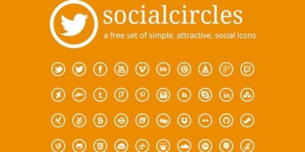 Circle & Round Social Media Icons
