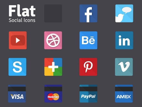 Best Free Social Icons 2017