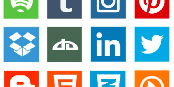 Flat Social Media Icon Vector Pack
