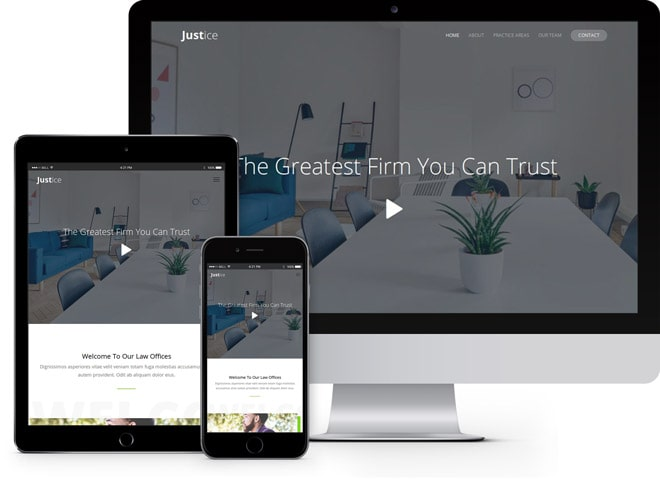 Justice: free html5 lawyer template