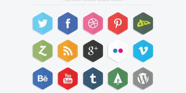 Polygon Social Media Icons